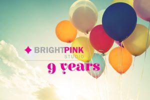 BrightPink Studio anniversary 9 years