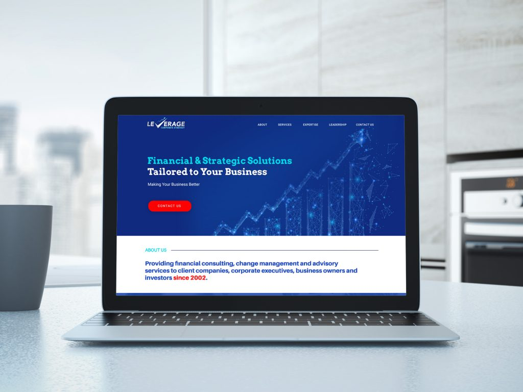 Leverage Corporate Strategy website design